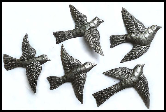 Haitian Metal Art Bird Wall Steel Drum