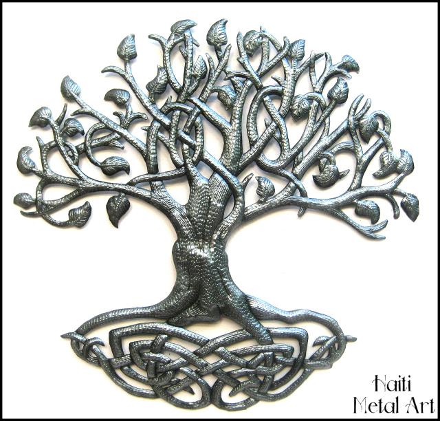 Metal Tree Of Life Wall Art Haitian Steel Drum Decor
